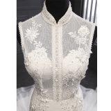 Laço elevado do colar que perla o vestido de casamento nupcial da sereia