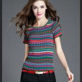 Les femmes du Nouveau Design Fashion Multi pullover rayé tricotage de vêtements de couleur pour le printemps et automne