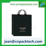 A dobradura de luxe do luxo personalizou o saco de papel da cópia do logotipo