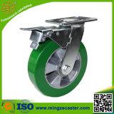 Hochleistungsgrün PU-Fußrollen-Räder