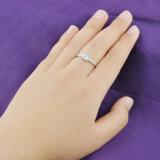 Дамы серебристый цвет один камень включение свадебные кольца