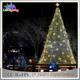 球が付いている商業表示装飾のモチーフLEDの屋外の巨大な人工のつけられたガラスクリスマスツリー