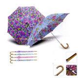 صنع وفقا لطلب الزّبون شعبيّة أسلوب مطّاطة مقبض 3 يطوي مظلة