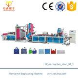 La bolsa de plástico del agua que hace la máquina