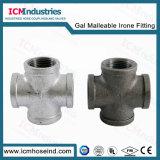 Raccord de tuyau de fer malléable galvanisé réducteur Mamelon hexagonal