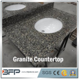 Topo de vaidade de banheiro de granito de pedra natural com tratamento polido