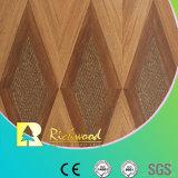 assoalho resistente V-Grooved de Laminbated da água da noz da textura do Woodgrain de 12.3mm