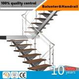 Buen precio exterior moderno balcón con balaustrada de vidrio DIN EN12150