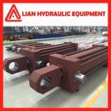 Cilindro hidráulico personalizado do desengate reto médio da pressão para a indústria metalúrgica