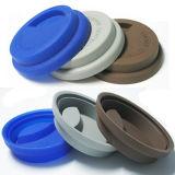 Personalizado isolar a tampa cerâmica da caneca do silicone portátil resistente ao calor