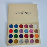 Glitter Veronni 24 colores de sombra de ojos Eyeshadow Palette de polvo de purpurina