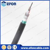 Cabo de fibra óptica blindada de aço ondulado de PVC (GYTS)