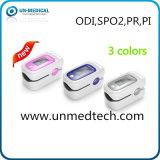 Oxímetro New- do pulso da ponta do dedo da monitoração do sono: SpO2, fotorreceptor, Pi, Odi