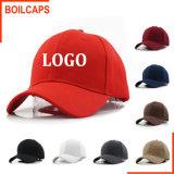 Promoción la tapa en blanco Hat bordados personalizados con logo impreso