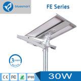 luz de calle solar 15With20With30With40With50With60With800W con el panel solar ajustable