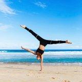 De zwarte/Witte Beenkappen van de Broek van Germent van de Kleren van de Yoga van de Sport (3044)
