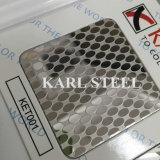 La couleur d'acier inoxydable a repéré la feuille Ket001 pour des matériaux de décoration