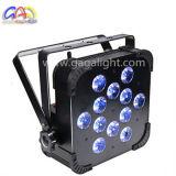 12X10W 4in1 RGBW het LEIDENE Vlakke Licht van het PARI met Op batterijen
