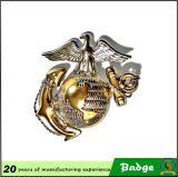 Divisa militar de encargo de la seguridad de la divisa del poli del metal de la divisa