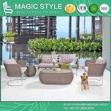 Диван из нержавеющей стали, патио с плетеной диван удобный диван садовой мебелью современного диван (MAGIC STYLE)