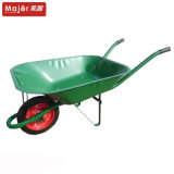 Wb6500 Construction Steel Tray Wheelbarrow, Individual Wheel Wheelbarrow Trolley