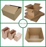 Caixa de papel ondulada branca para o transporte do alimento