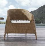 [رتّن] صغيرة مستديرة خارجيّ مسيكة حديقة أثاث لازم قهوة مجموعة مع كرسي تثبيت قابل للتراكم ([يت121])