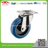 Blaue GummiEdelstahl-Fußrolle (P104-23DA080X32)