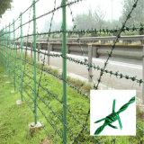 塀のための熱い浸された電流を通された二重線の有刺鉄線