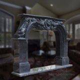 Il prezzo basso ha scavato i disegni di marmo T-6395 del camino coltivati camino di marmo naturale
