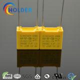 0.1UF 275VAC 안전 Capacitor/X2 MKP RoHS 범위 가정용품을%s 황색에 의하여 금속을 입히는 폴리프로필렌 필름 축전기