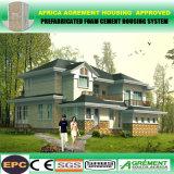 Casa norteamericana de acero aislada de la casa prefabricada del estilo de la luz de las propiedades inmobiliarias