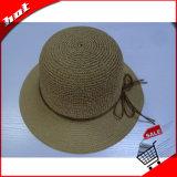 El papel de la moda de Sun Hat Hat Mujer Sombrero de Paja de papel