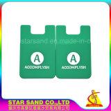 安い付着力のシリコーンIDのクレジットカードのホールダー、柔らかいゴム製札入れ
