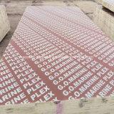 Низкая цена меламина клей коричневый/черной пленкой, с которыми сталкиваются Shuttering фанеры