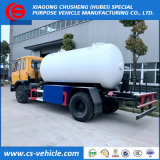 Camion di riempimento GPL del cilindro mobile del camion di serbatoio di Dongfeng 4X2 10cbm GPL/5t da vendere
