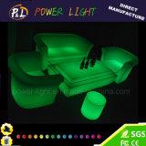 Mobilia di plastica ricaricabile del sofà della batteria di litio della mobilia del salotto LED