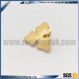 금과 은 도금 3D 악의 있는 금속은 기장을 기념한다