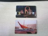 Transparentes Oblate-Visitenkarte USB-Blitz-Laufwerk mit Aufkleber