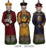Китайская династия Qing статуи фарфора (LW318)