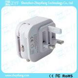 영국 표준 벽 플러그 (ZYF9114)를 가진 이중 USB 운반 차 충전기