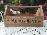 Wein-Weinlese-Art-hölzerner Speicher-Rahmen Trug der Mama für Weihnachten