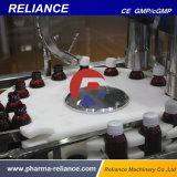 Ampola de vidro do xarope que dá forma à máquina do enchimento, tapar e tampar