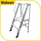 Наиболее востребованных 3 шаг Складной алюминиевый платформы лестницы с поручнями