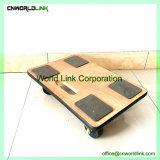 Roda de plataforma Tote almofada quadrada Carrinho de madeira