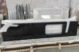 Controsoffitto nero del granito, parte superiore di pietra del banco