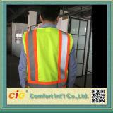 일 착용 포켓을%s 가진 높은 시정 안전 사려깊은 조끼