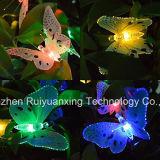 Luz solar de la secuencia 12LED de la mariposa