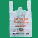 Le gilet en plastique de sacs à provisions de HDPE met en sac des sacs de T-shirt