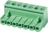 Grünes Vde-UL-steckbarer/steckbarer Klemmenleiste-Verbinder (WJ2EDGK-5.0/5.08)